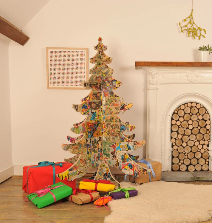 Christmas tree Artificially artificial Christmas tree test by recycling