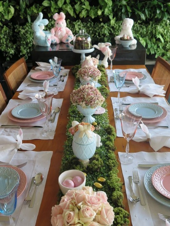 Beautiful stylish table decoration Easter brunch