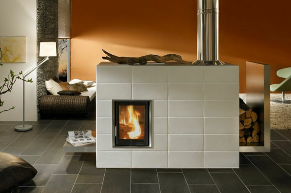 modern tiled stoves brunner stylish white tiles water-bearing tiled stoves