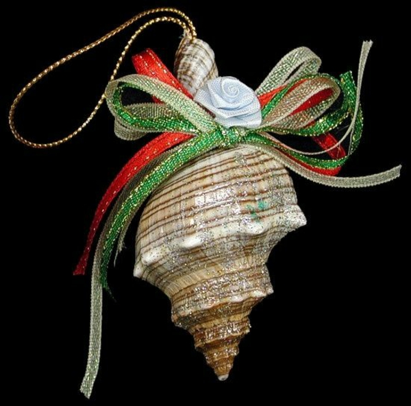 christmas decoration tropical style tree ball seashell loop