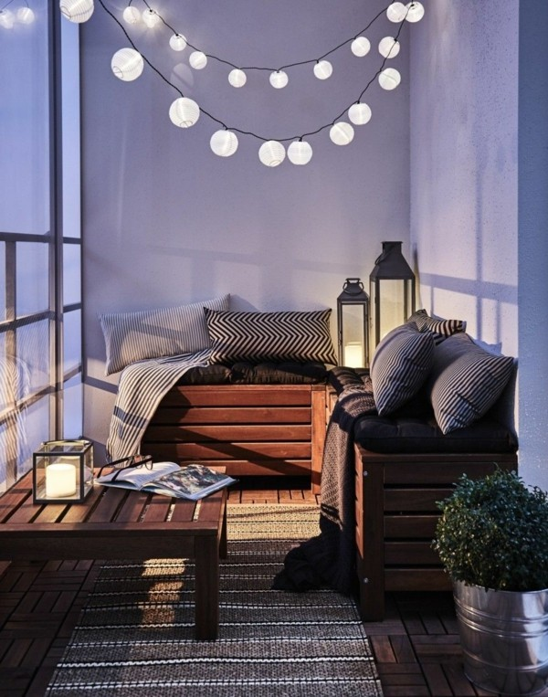 balcony ideas fairy lights