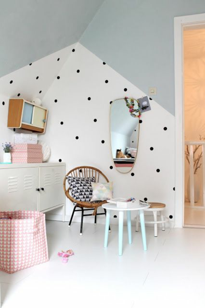 Wallpaper nursery pattern wallpaper creative wall design polka dot pattern