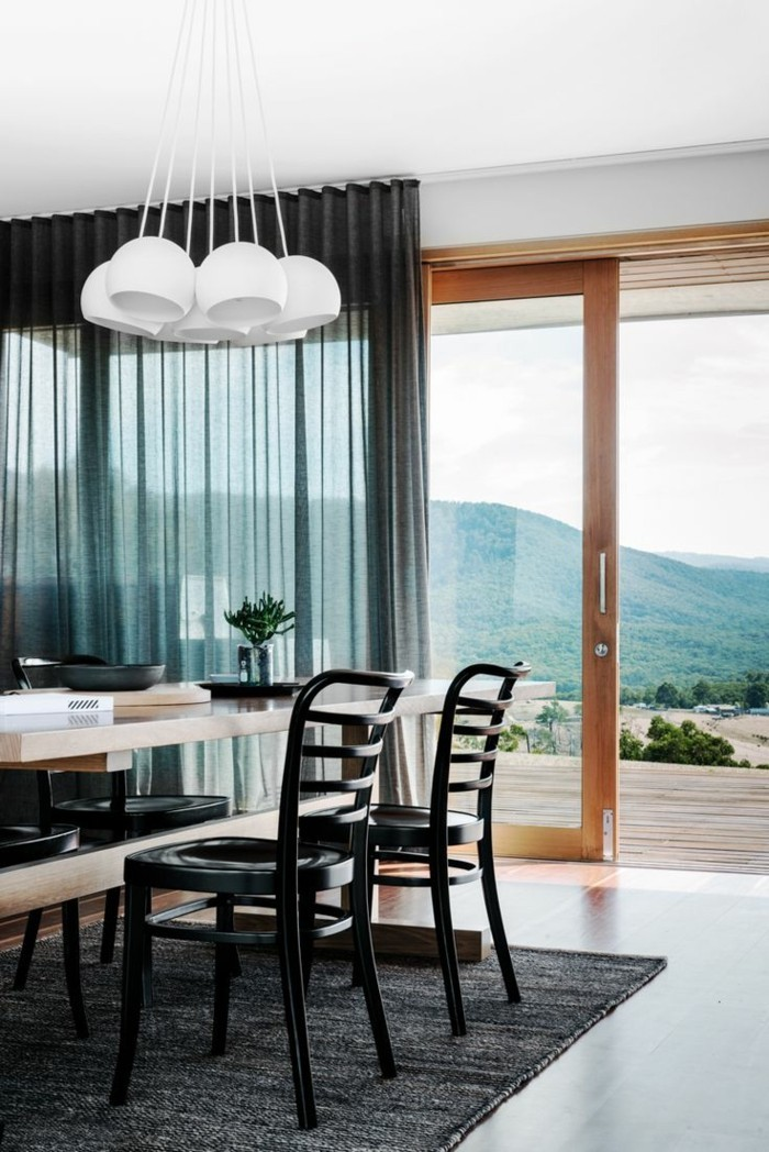 living ideas dining room transparent curtains in black
