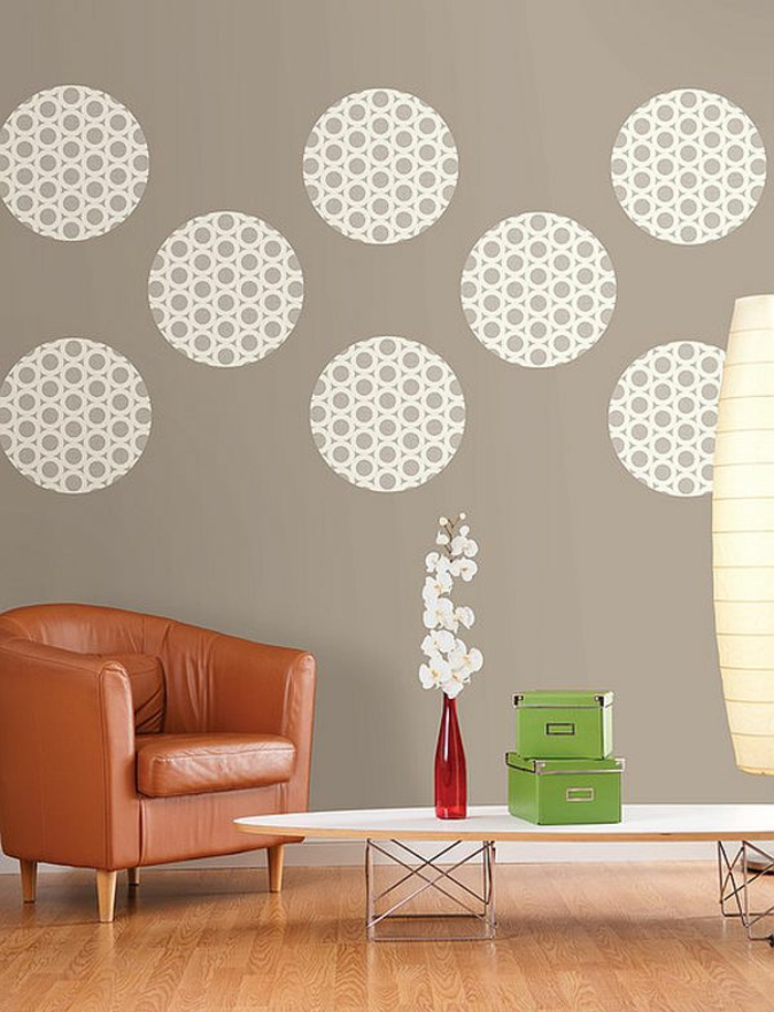 wall design ideas do it yourself wallpaper circles