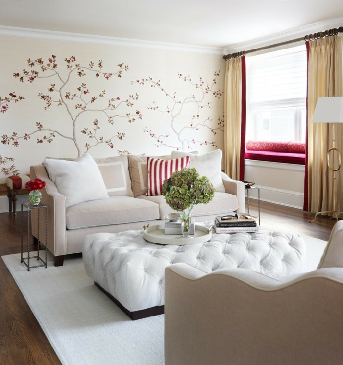 living ideas living room white carpet floral decor