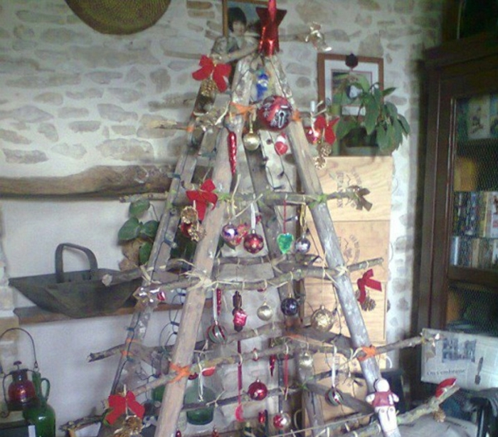 christmas tree artificially artificial christmas tree test by wand wandsticker ladder