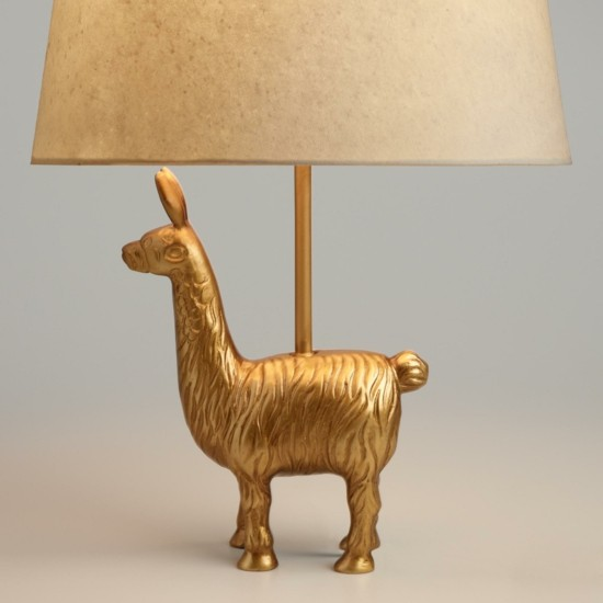 Table lamp as a birthday present birthday decoration lama trend 2018