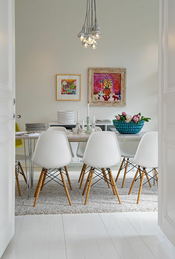white interior dinning room design