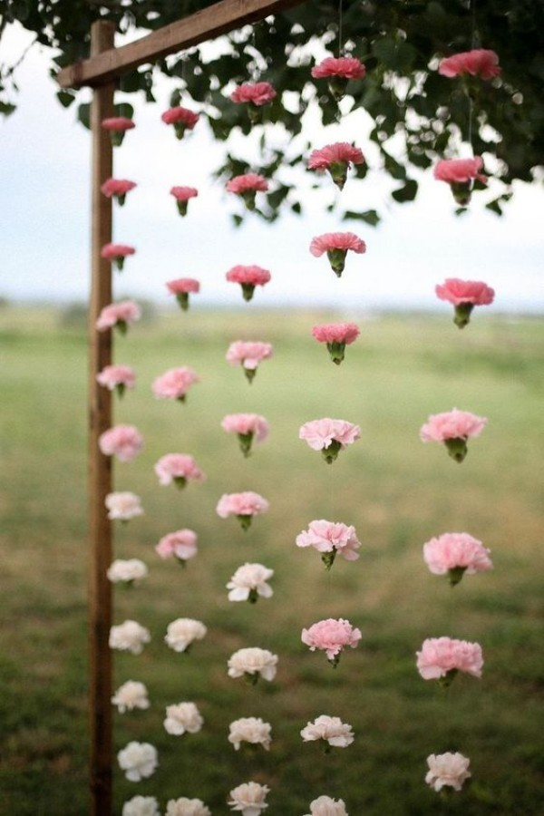 wedding outside heart deco on a great frame