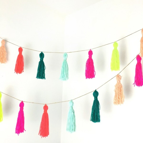 garland of tassels in different colors