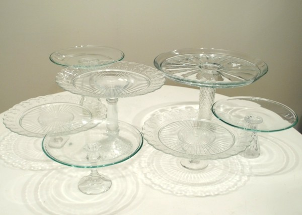 Cake stand made of glass