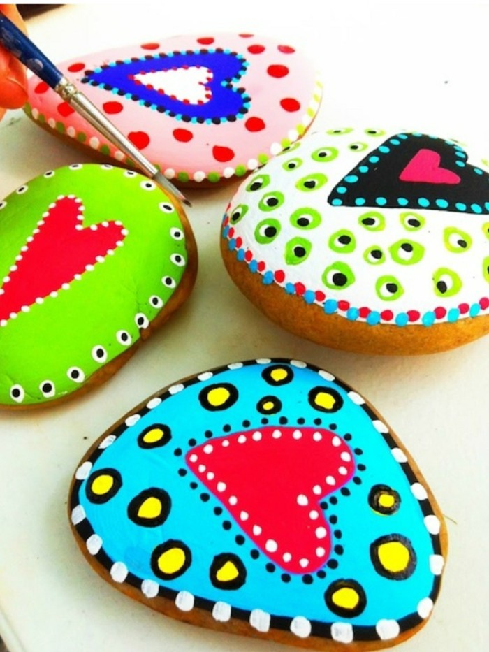 paint diy ideas stones and decorate the garden