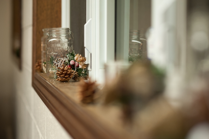 deco window sill thematic window decoration christmas