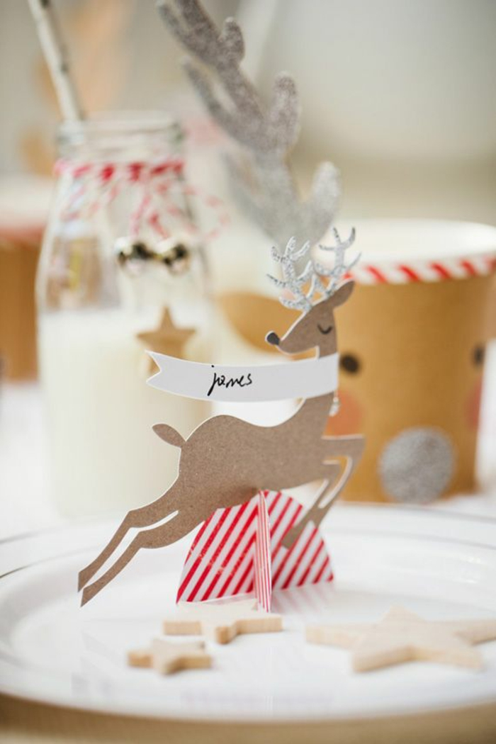 tinker cards christmas table decoration deer