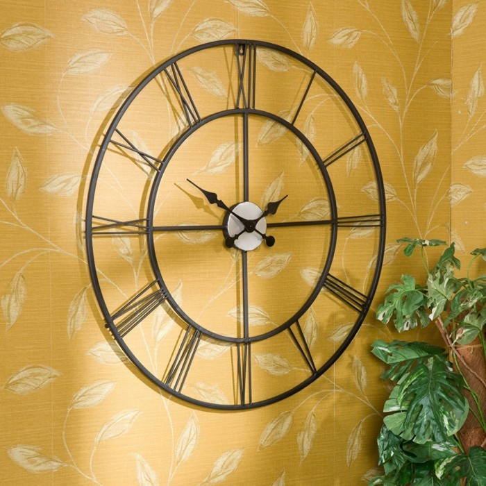 deco wall clocks vintage plant beautiful wall wallpaper