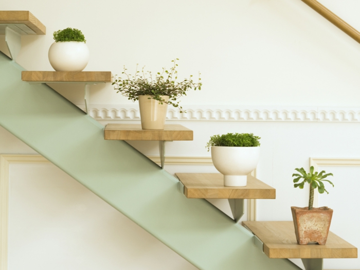 easy-care indoor plants pictures beautify stairwell with potted plants
