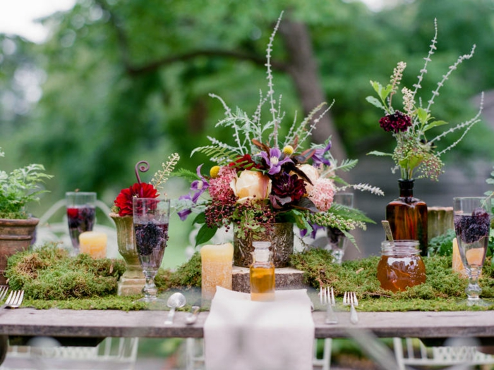 summer party deco table decoration flowers rustic