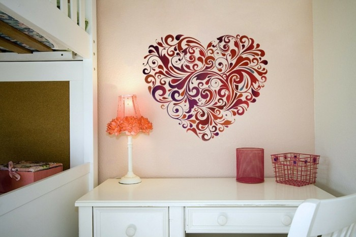 valentines day ideas wall decor heart wall stickers
