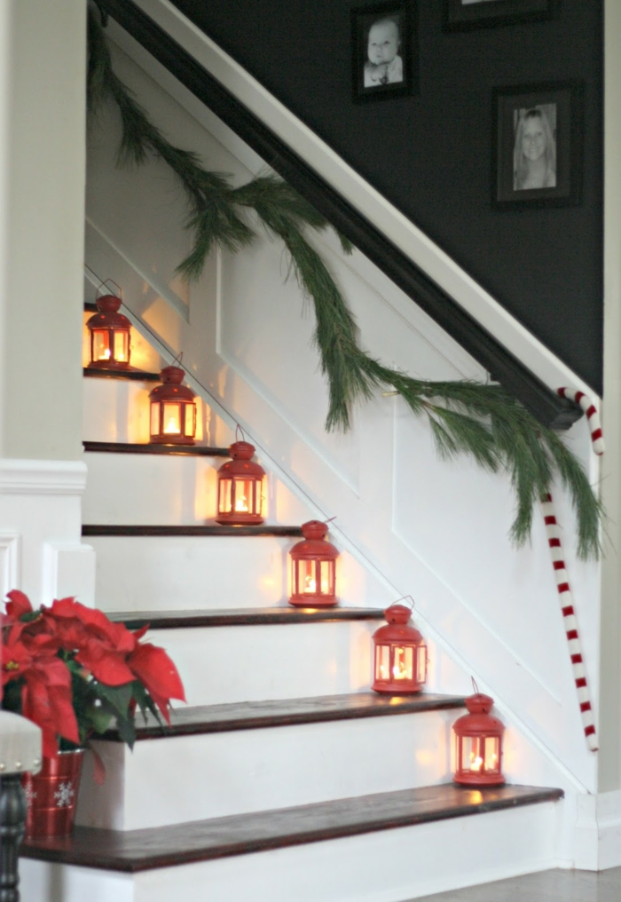 decorate christmas staircase decorate deco christmas