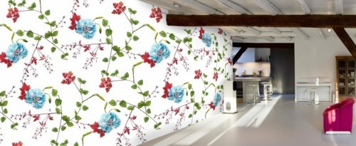 patterned wallpapers great herbal ornaments