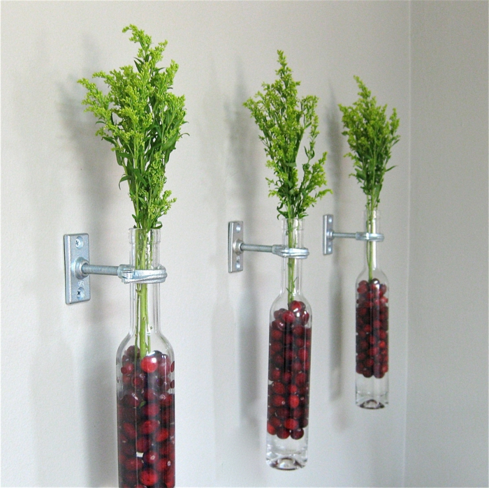deco bottles wall attach plants