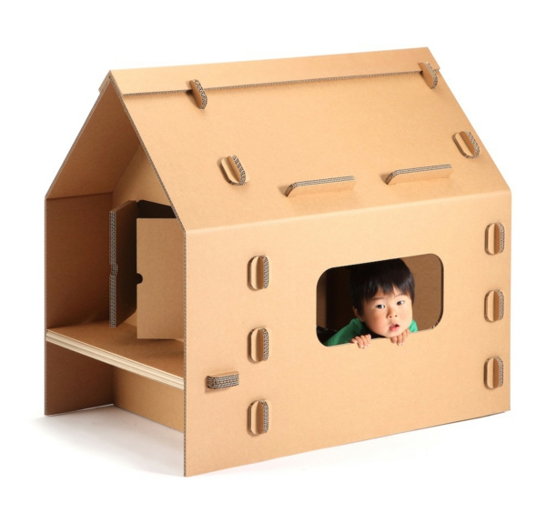 Playhouse cardboard playhouse for children