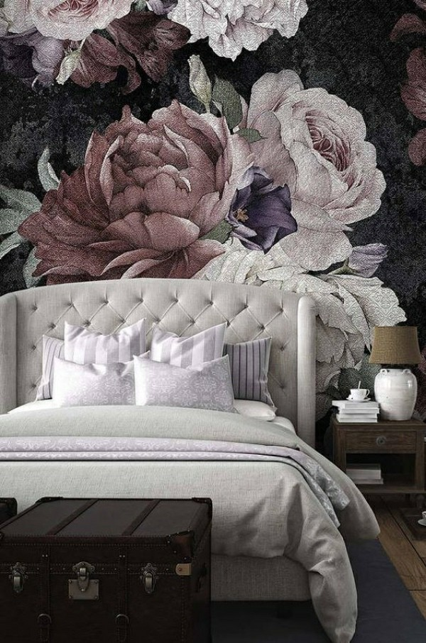 beautiful flowers photo wallpaper bedroom