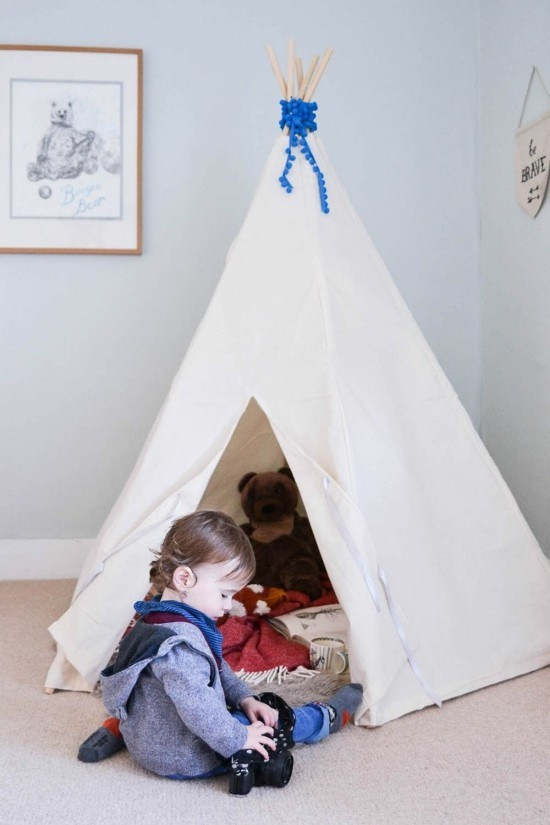 tipi tent sewing for the children's room make teepee yourself