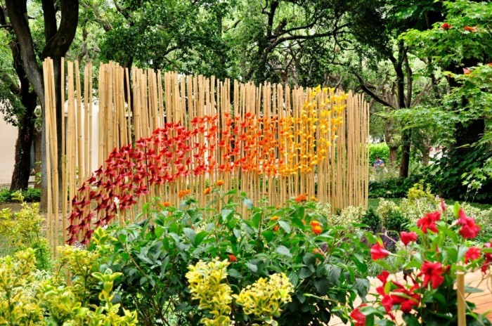 fancy garden decorating yourself make garden fence with origami decorate