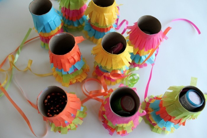 make autumn tinker with children autumn decoration make tinker with pin paper rolls pinata