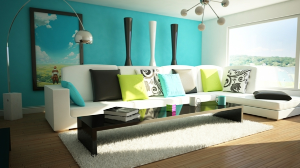 comfortably furnished living space
