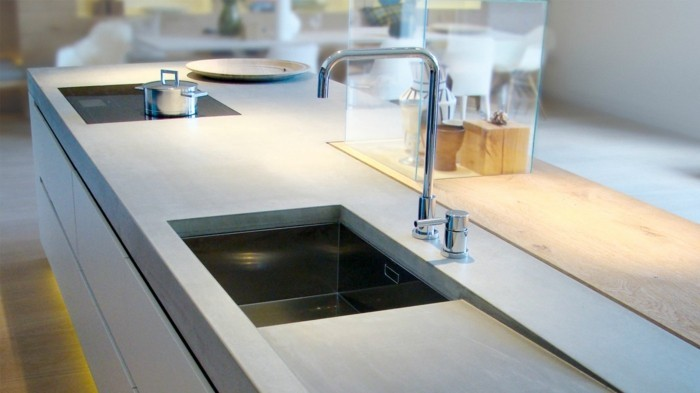 perfect look of concrete kitchen design