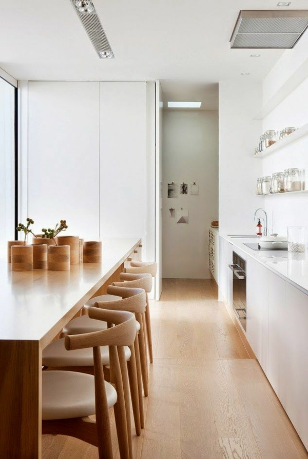 kitchen wooden furniture white interior