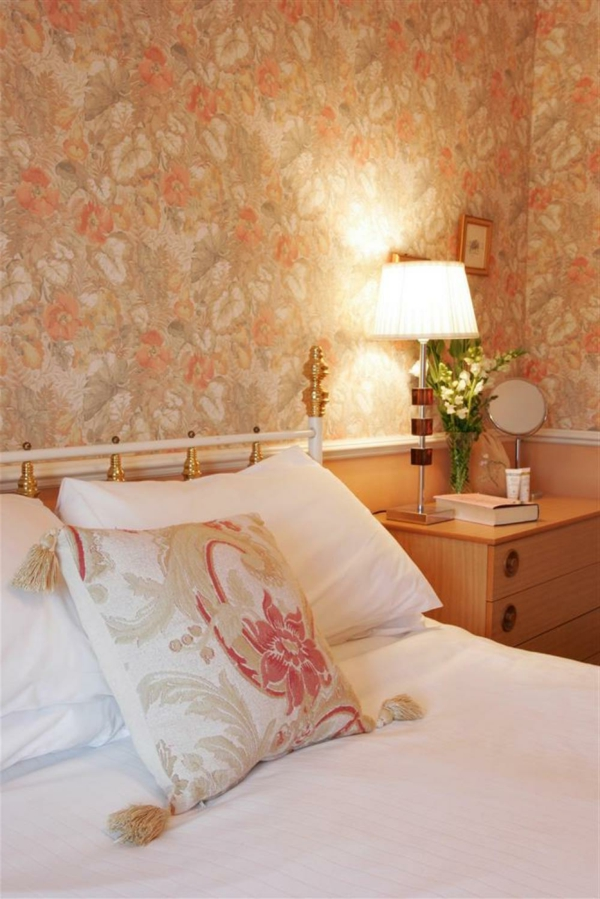 wallpaper pattern bedroom fashion country style