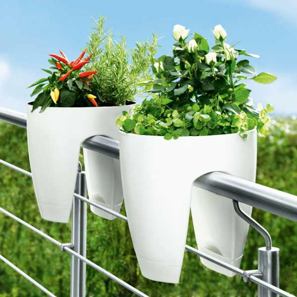 balcony ideas flowers flower box white design