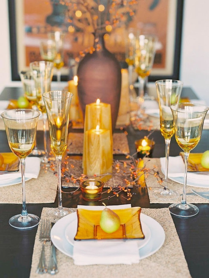table decoration autumn elegant idea with matching colors