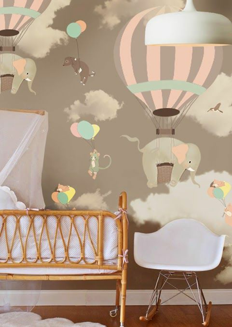 Pattern wallpaper baby rooms wallpaper for kids room design