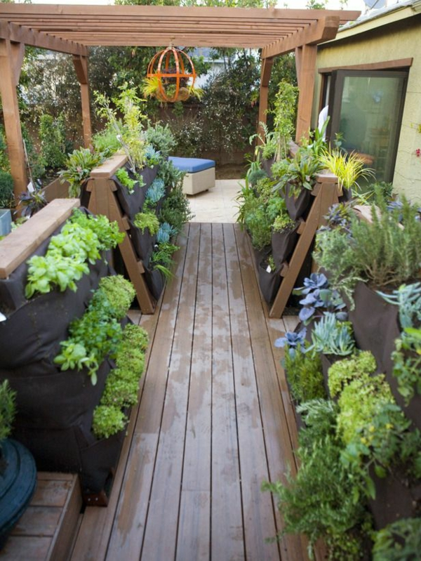 bio garden vegetables grow terraces ideas