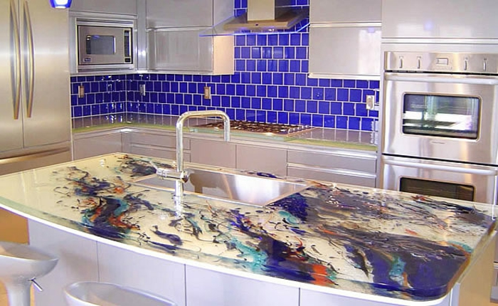 countertop kitchen kitchen plate glass top