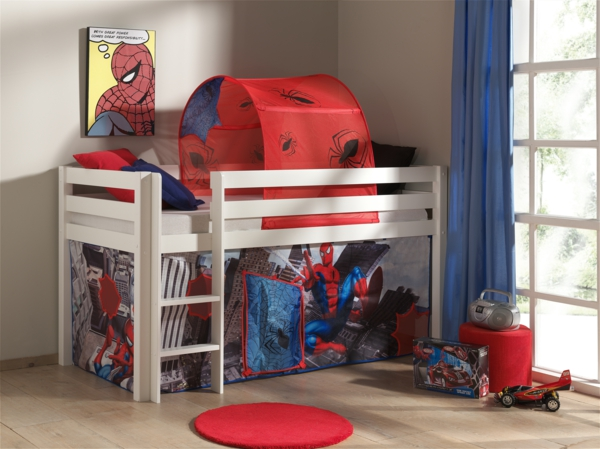 Small children's room set up cot spidermann playground PICOHSZG1453