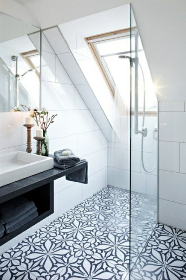 bathroom with sloping roof