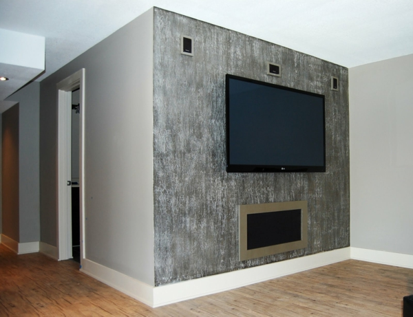 wall paint with metal effect