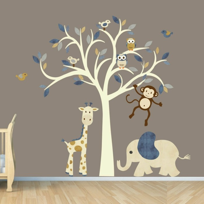 wall decals tree living ideas nursery tree animals nature