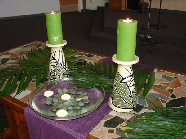 Decoration for Palm Sunday Green dominant color