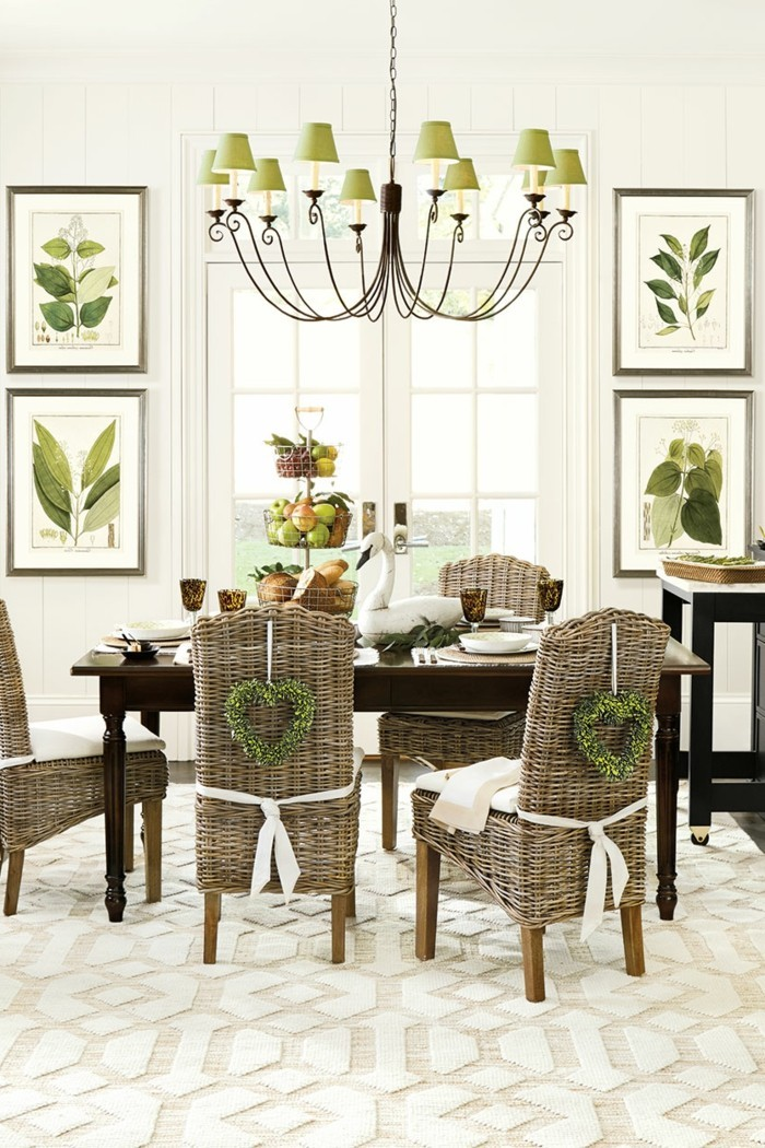 wall decoration ideas dining room decorating floral pattern