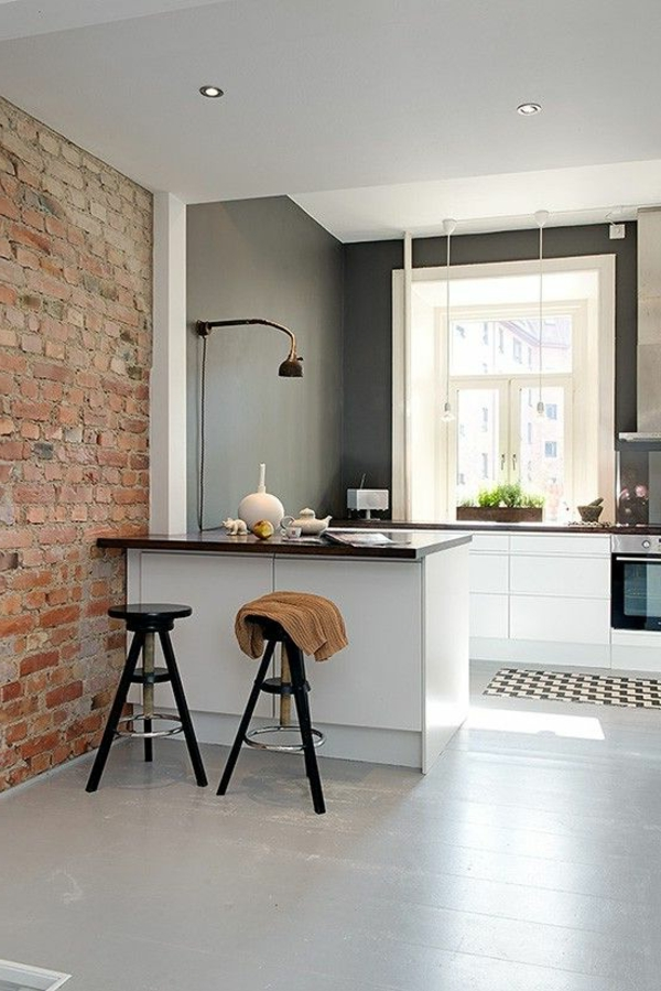 kitchens plan your own brick wall