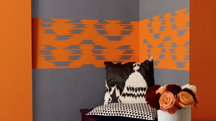 wall colors ideas furnishings wood orange white young