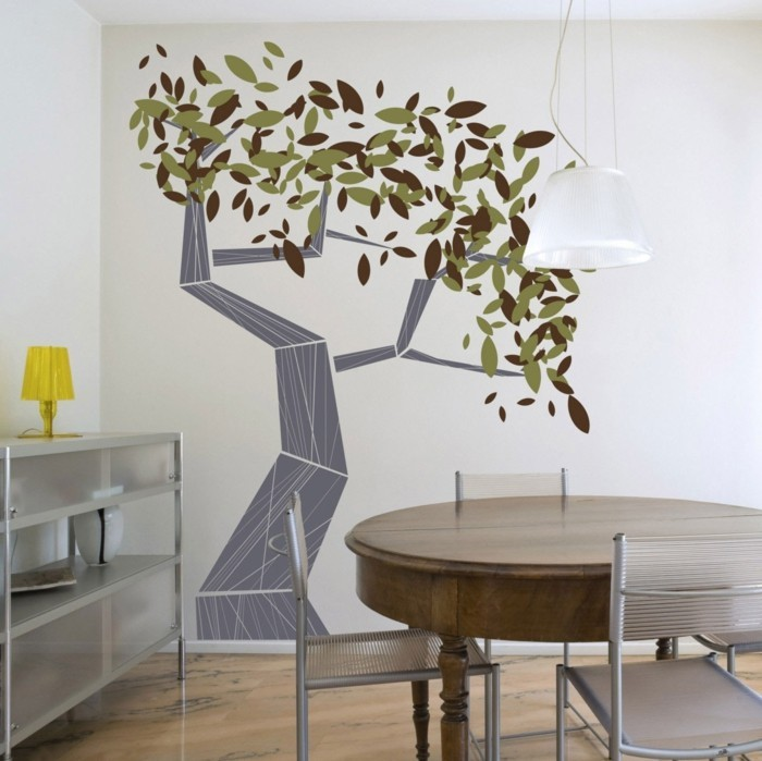 wall decals tree living ideas dining room