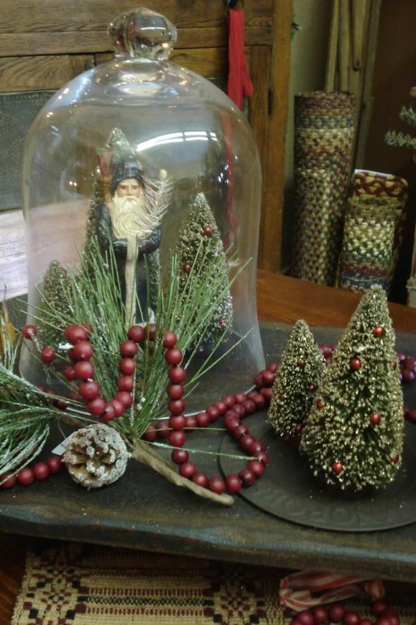 Small fir trees as a subtle Christmas decoration