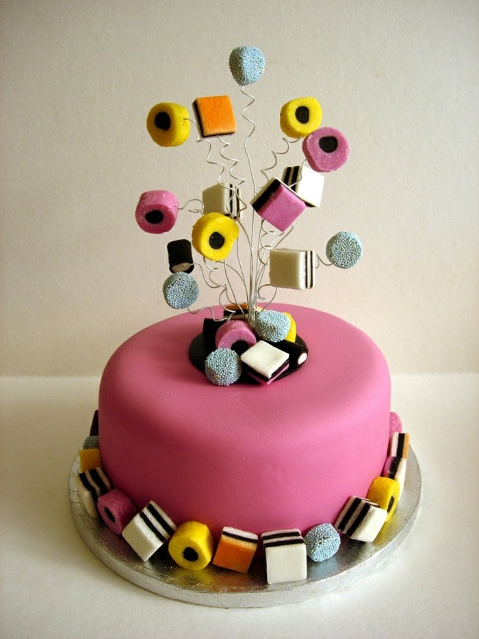 cake deco birthday cake funny decorate with fondant